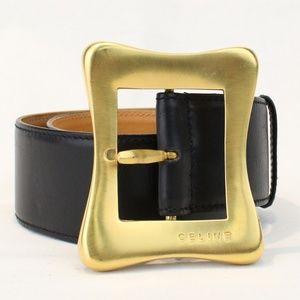Celine Wide Leather Belt
